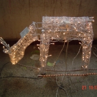 "42"" 3D PVC animated feeding doe with CUL 100Lights"